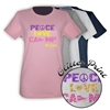JCC CAMPS <u><b>At Medford</b></u> PEACE, LOVE, CAMP GIRLS FITTED TEE