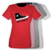 JCC CAMPS <u><b>At Medford</b></u> SNEAKER GIRLS FITTED TEE BY LUXEBASH