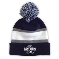 JCC STAMFORD STRIPED BEANIE WITH POM