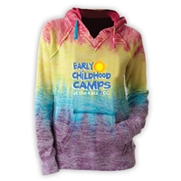 JCC EARLY CHILDHOOD CAMPS COURTNEY BURNOUT V-NOTCH SWEATSHIRT