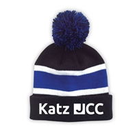 JCC EARLY CHILDHOOD CENTER STRIPED BEANIE WITH POM