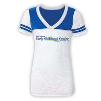 JCC EARLY CHILDHOOD CENTER SPORTY BURNOUT V-NECK