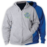 JCC EARLY CHILDHOOD CENTER FULL ZIP HOODED SWEATSHIRT