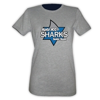 JCC SHARKS GIRLS FITTED TEE