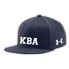 KELLMAN BROWN UNDER ARMOUR FLAT BRIM STRETCH FITTED CAP