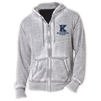 KELLMAN BROWN UNISEX BURNOUT HOODY