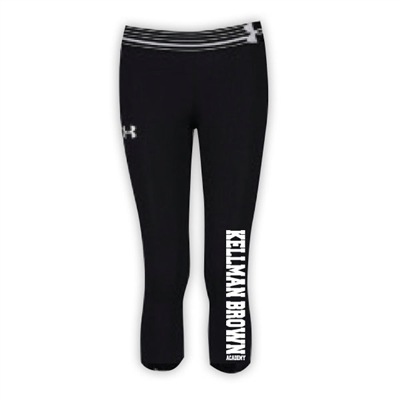 KELLMAN BROWN GIRLS UNDER ARMOUR HEAT GEAR ALPHA CAPRI