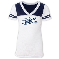 KELLMAN BROWN  SPORTY BURNOUT V-NECK