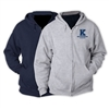 KELLMAN BROWN FULL ZIP HOODED SWEATSHIRT
