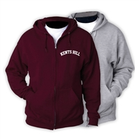 KENTS HILL FULL ZIP HOODED SWEATSHIRT
