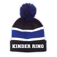 KINDER RING STRIPED BEANIE WITH POM