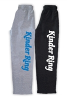 KINDER RING OPEN BOTTOM SWEATPANTS WITH POCKETS