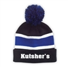 KUTSHERS STRIPED BEANIE WITH POM