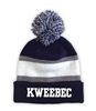 KWEEBEC STRIPED BEANIE WITH POM