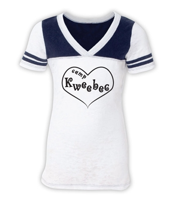 KWEEBEC SPORTY BURNOUT V-NECK