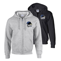 LINDENWOLD LIONS FULL ZIP HOODED SWEATSHIRT
