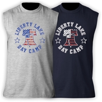 LIBERTY LAKE DAY CAMP SLEEVLESS TEE