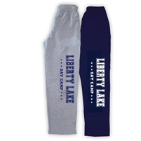 LIBERTY LAKE DAY CAMP OPEN BOTTOM SWEATPANTS WITH POCKETS