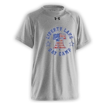 LIBERTY LAKE DAY CAMP OFFICIAL UNDER ARMOUR TEE