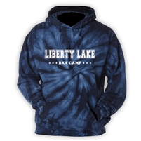 LIBERTY LAKE DAY CAMP NAVY TIE DYE SWEATSHIRT