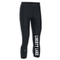 LIBERTY LAKE DAY CAMP LADIES UNDER ARMOUR HEAT GEAR ARMOUR CAPRI