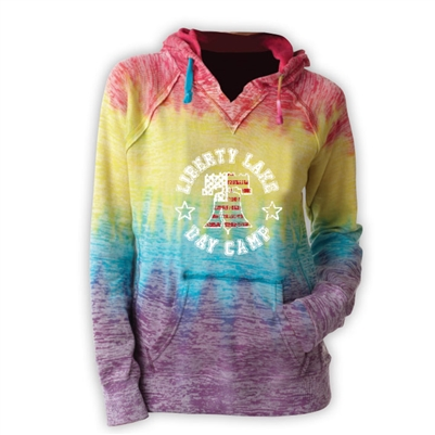 LIBERTY LAKE DAY CAMP COURTNEY BURNOUT V-NOTCH SWEATSHIRT