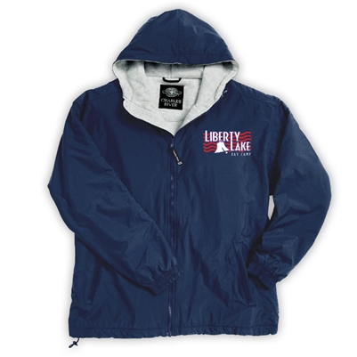 LIBERTY LAKE DAY CAMP FULL ZIP JACKET WITH HOOD