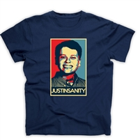 JUSTINSANITY - JUSTIN PHOTO TEE <br> Proceeds support the Leukemia & Lymphoma Society