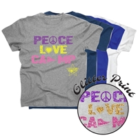 LIBERTY LAKE PEACE, LOVE, CAMP COTTON TEE BY LUXEBASH