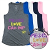 LIBERTY LAKE PEACE, LOVE, CAMP AT EASE TANK BY LUXEBASH