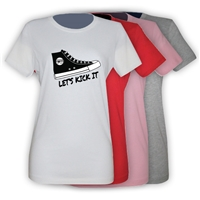 LIBERTY LAKE SNEAKER GIRLS FITTED TEE BY LUXEBASH