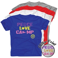 LAURELWOOD PEACE, LOVE, CAMP COTTON TEE