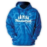 MEADOWBROOK COUNTRY DAY CAMP ROYAL TIE DYE SWEATSHIRT