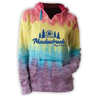 MEADOWBROOK COUNTRY DAY CAMP COURTNEY BURNOUT V-NOTCH SWEATSHIRT