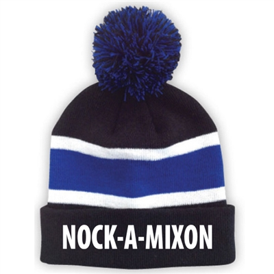 NOCK-A-MIXON STRIPED BEANIE WITH POM