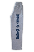 NOCK-A-MIXON OPEN BOTTOM SWEATPANTS WITH POCKETS
