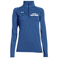 NOCK-A-MIXON LADIES UNDER ARMOUR STRIPE TECH 1/4 ZIP