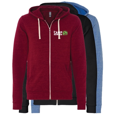 CAMP NEWMAN UNISEX TRIBLEND SPONGE FLEECE FULL ZIP HOODIE