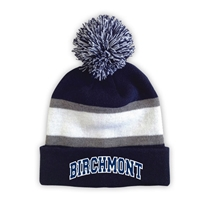 BIRCHMONT STRIPED BEANIE WITH POM