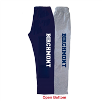 BIRCHMONT OPEN BOTTOM SWEATPANTS WITH POCKETS