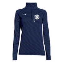 BIRCHMONT LADIES UNDER ARMOUR STRIPE TECH 1/4 ZIP