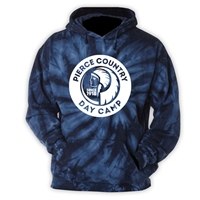 PIERCE COUNTRY DAY CAMP NAVY TIE DYE SWEATSHIRT