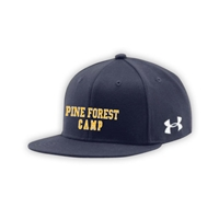 PINE FOREST UNDER ARMOUR FLAT BRIM STRETCH FITTED CAP