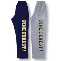 PINE FOREST OPEN BOTTOM SWEATPANTS WITH POCKETS