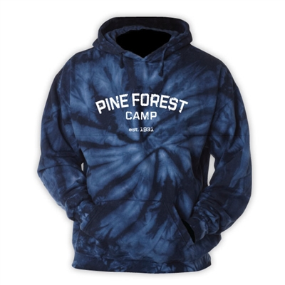 PINEFOREST NAVY TIE DYE SWEATSHIRT