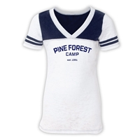 PINE FOREST SPORTY BURNOUT V-NECK