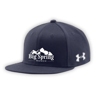 SANBORN BIG SPRING RANCH UNDER ARMOUR FLAT BRIM STRETCH FITTED CAP