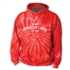 SENECA LAKE RED TIE DYE SWEATSHIRT