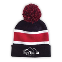 SANBORN HIGH TRAILS STRIPED BEANIE WITH POM