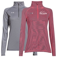 SANBORN HIGH TRAILS RANCH LADIES UNDER ARMOUR STRIPE TECH 1/4 ZIP